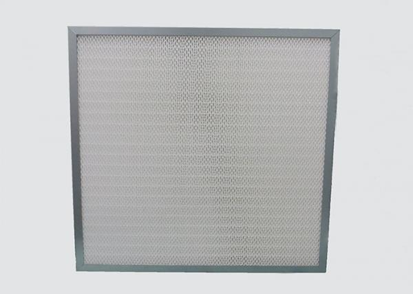 Quality Mini Pleat Medium Clean Air HEPA Filter Galvanized Frame Synthetic Fiber for sale