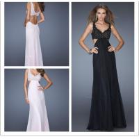 China Feminine Long Flowing Open Back And Sides Formal Evening Dresses Outfits wholesale