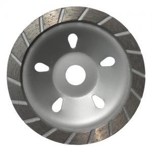China 180MM Sintered Turbo Grinding Head Diamond Cup Wheel , Concrete Grinding Wheel wholesale