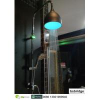 China BSBRIDGE Hydropower Color-changing LED Rain Shower Head with Lamp Cover,no battery,no electricity on sale