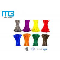 China Wiring Accessories Locking Cable Ties , Industrial Zip Ties Nylon 66 Material wholesale