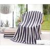 China Plush Cotton Bath Towels 70*140cm , Plain Coloured Zebra Striped Bath Towels wholesale