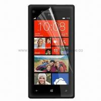 China Clear Screen Protector for HTC Windows Phone 8S, Anti-scratch, Anti-glare, Dust-proof and Waterproo wholesale