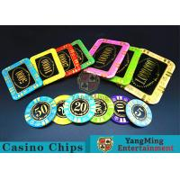 Anti - Counterfeiting Crystal Poker Chips / Rectangular Poker Chips For Casino for sale