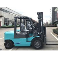 China Pneumatic Tire Industrial Counterbalance Forklift Truck 4 Ton 5000mm Triplex Mast wholesale