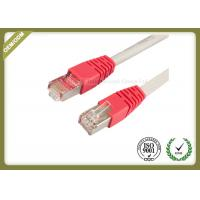China 10G / 1000 BASE -T Cat6 Network Patch Cord With Gold Plated Connector on sale