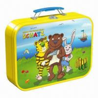 China Tin boxes, used to pack toys and game cards, various designs/colorful printing are available wholesale