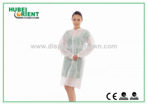 Quality Disposable PP Nonwoven medical protective clothing for Hospital Nursing with Snaps for sale