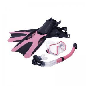 China Silicone Diving Mask Snorkel Set / Ladies Snorkel Set Customized Logo Printing on sale