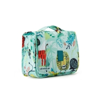 China Embroidery Logo Polyester Hanging Cosmetic Storage Bag wholesale