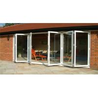 China aluminium glass bifold door sizes internal folding doors on sale