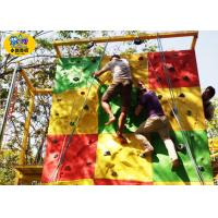 China Commercial Childrens Rock Climbing Wall , Fiberglass Kids Indoor Climbing Wall wholesale