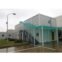 China Two Stories Flat Pack Container House , Flat Pack Steel Containers With Rain Cover on sale