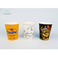 China Food Safe Ink Printed Single Wall Coffee Cups , Personalized Paper Cups on sale