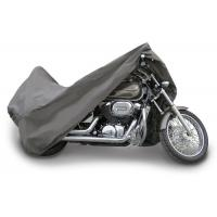 """3 Layer Material Waterproof Motorcycle Cover 96"""" Long Gray Color Fade Resistant"""
