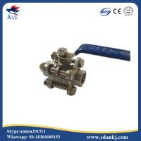 China High quality 3pcs stainless steel threaded type ball valve for water gas oil wholesale