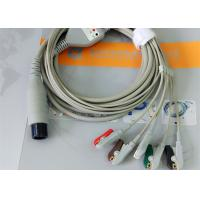 China Compatible Generic AAMI 6 Pin One Piece Ecg Lead Wires 5 Leads OD 4.00mm wholesale