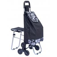China Stair Climbing Rolling Shopping Trolley Dolly Multipurpose Laundry Utility Cart with Seat-outdoor chair bag wholesale