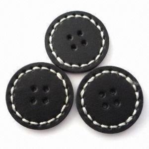 China os botões cobertos de couro Mão-costurados do plutônio, podem satisfazer a exigência de Oeko-Tex 100/Cpsia wholesale