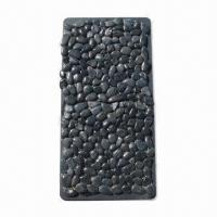 China Polished Cobble/Pebble Mosaics, Measures 305 x 305mm, with Curved/Straight Edges wholesale