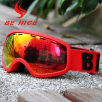 China Soft Red Kids Ski Goggles , Boys Snowboard Goggles With 3 Layer Comfortable Foams wholesale