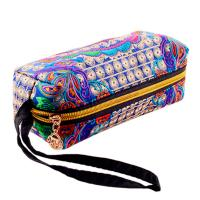China wholesale canvas embroidery stationery colored pencil set cosmetic bag on sale