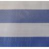 blue/white striped pe tarpaulin, 165gsm virgin material