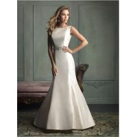 China open back Simple Elegant Wedding Dress with Crystal Beaded Belt , Mermaid Halter Dress on sale