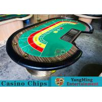 China 8 Person Casino Luxury Poker TableWith Thick Black Camphor Wood Fire Panel wholesale