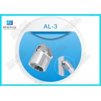 Silver Color Aluminum Tubing Joints AL-3 Tube Female Connector Die Casting for sale