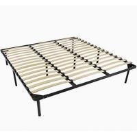 China Carbon Steel Metal Bed Frame With Slats , Simple Double Mattress Frame Bedstead wholesale