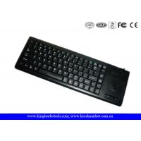 Plastic Industrial Computer Keyboard With Function Keys And Integrated Trackball