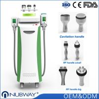 CE / FDA approved 5 treatment handles OEM/ODM Cryo + RF + Cavitation cryolipolysis for weight loss