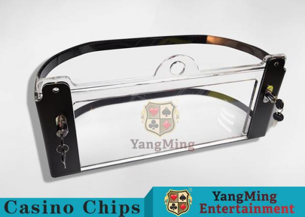 Quality Arc Shape Poker Discard Holder / Playing Card Tray Holder With Chips Protection for sale