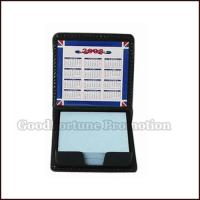 China Promotional PU Material Memo pad holder customed gift logo on sale