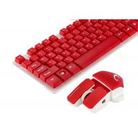 China Red Color Multimedia Wireless Keyboard And Mouse Combo No Lighting Mode on sale