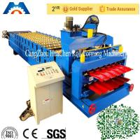 China Glazed Roof Tile Double Layer Roll Forming Machine Width 1200mm / 1220mm wholesale
