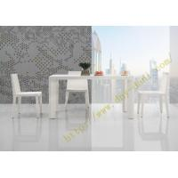 China high gloss white dining table and chairs for dining room furniture on sale