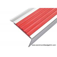 China Highly Robust Aluminum Stair Nosing , Metal Stair Edge Trim With PVC Inlay on sale