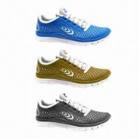 China New fashion style men's sports shoes/running shoes for men, with imitation leather upper on sale