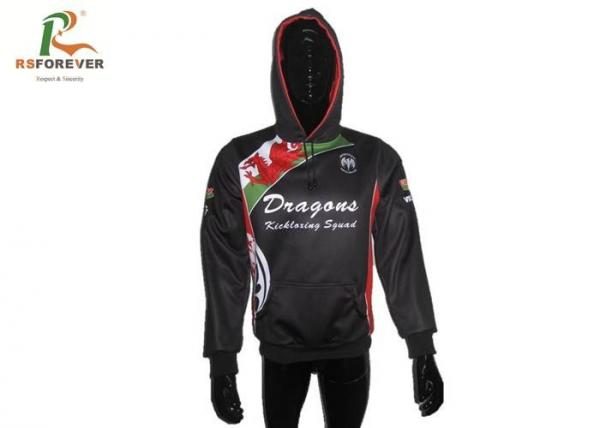 Quality Fashional Custom Sublimated Polyester Hooded Jacket Waterproof Printed Pullover for sale