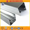China Machinery Polished Aluminium Profile Silver White High Surface Brightness wholesale