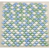 China Smooth Fish Scale Multi Coloured Mosaic Glass Tile Sheets For Background Building on sale