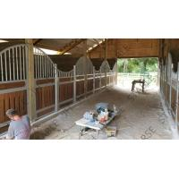 China Hot Dip Galvanized Horse Stable Box Stall Fence Panel With Wood Board on sale