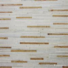 China White Yellow Fine Strip Quartzite Stone Veneer for Hotel / Retail Shops Decor wholesale