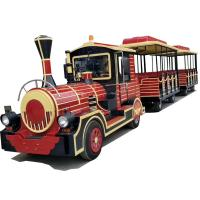 China 16 Persons Tourist Train Rides Mini Express Trackless Train 18km/H Steering System wholesale