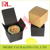 Custom luxury handmade black square candle paper packaging gift box with own logo