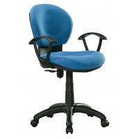 China Blue / Black Office Typist Chairs , Breathable Fabric Swivel Desk Chair wholesale