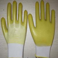 China yellow PVC coated working gloves PG1511-11 wholesale