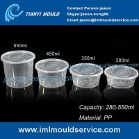 China 280ml/350ml/450ml/550ml clear PP disposable plastic bowls and tableware mould wholesale